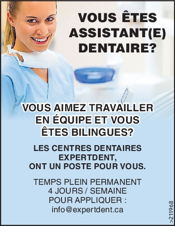 ASSISTANT(E) DENTAIRE