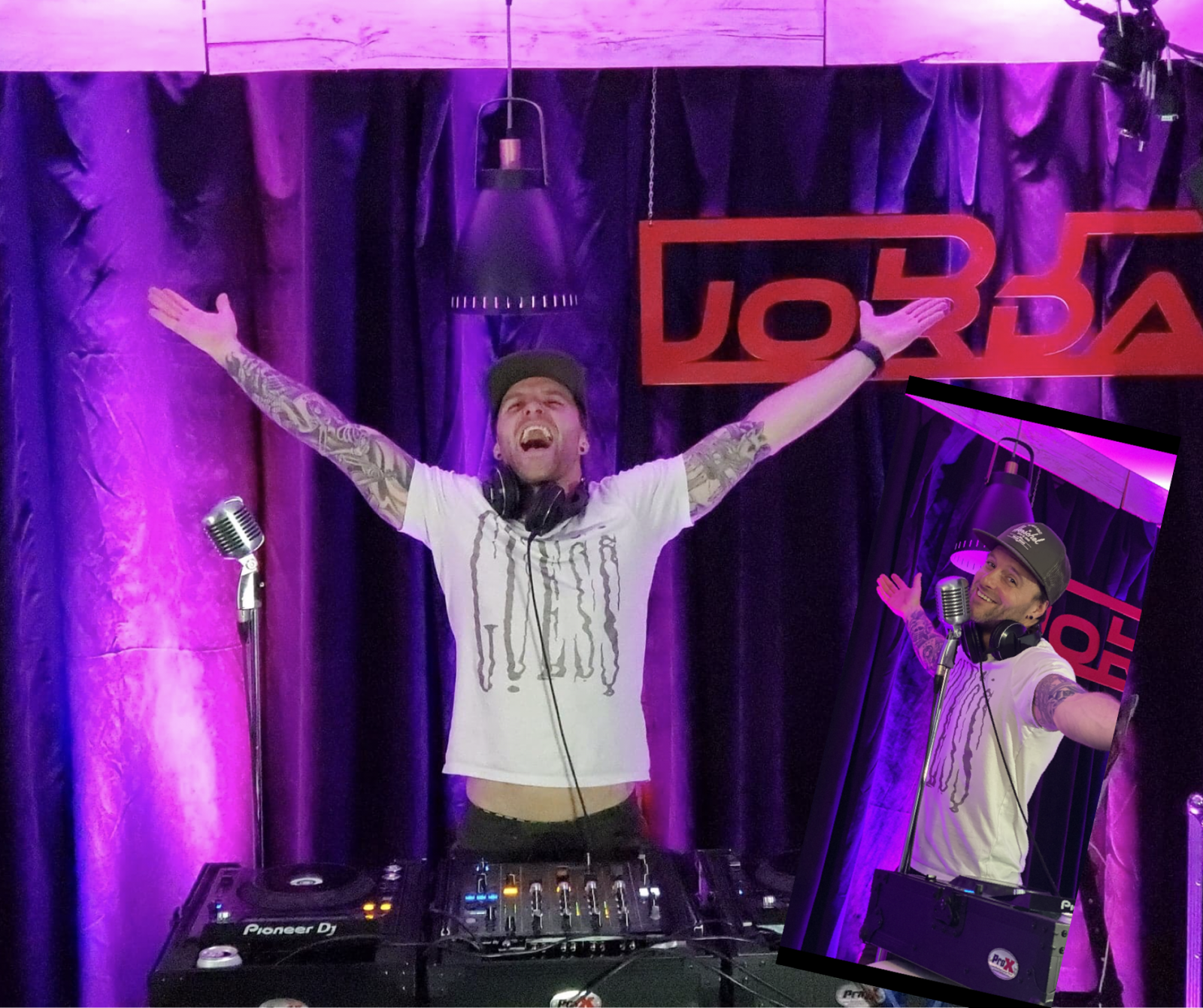 Un party virtuel dans le salon avec DJ Jordan